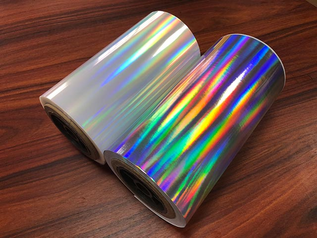 Seamless rainbow BOPP Holographic lamination film