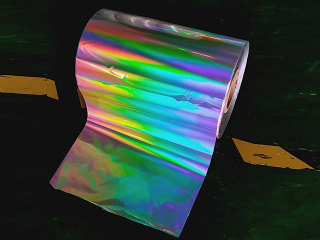 Seamless rainbow PET holographci lamiantion film
