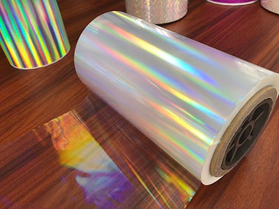 Thermal holographic lamination film